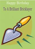 Bricklayer - Greeting Card